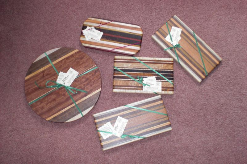 The photos are an example of the great cutting boards we have to offer!